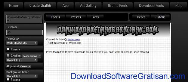 Desain Tulisan Online Gratis Terbaik - GraffWriter