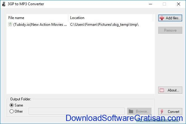 Download Aplikasi Convert 3GP ke MP3 untuk PC