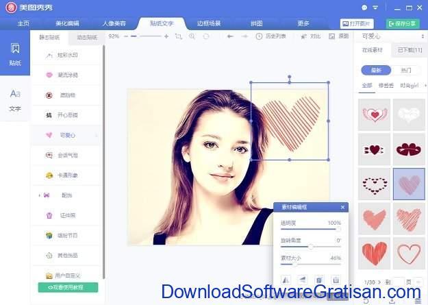 Download Aplikasi Edit Foto China untuk PC Meitu Xiu Xiu