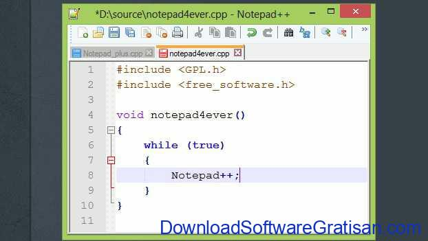 Download Aplikasi Edit Teks Gratis Notepad++