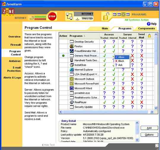 Download Aplikasi Firewall Gratis ZoneAlarm Free