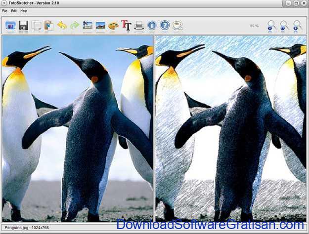 Download FotoSketcher Aplikasi Mengubah Foto Menjadi Sketsa