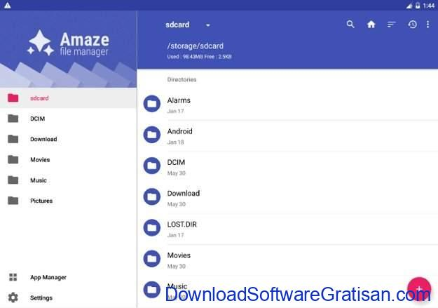 File Manager Gratis Terbaik untuk Android Amaze File Manager