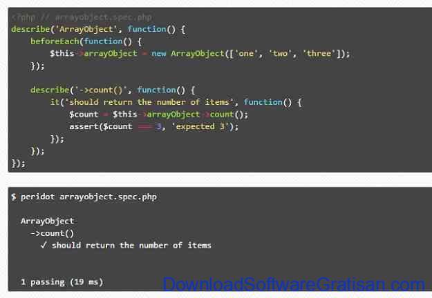 Framework Unit Testing Otomatis PHP Terbaik Peridot