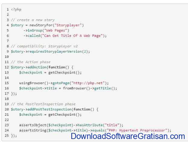 Framework Unit Testing Otomatis PHP Terbaik Storyplayer