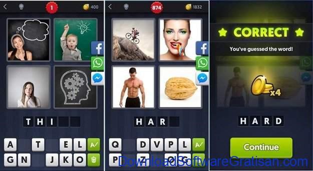 Game Tebak Gambar Terbaik Android & iOS 4 Pics 1 Word
