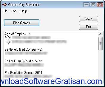 Aplikasi untuk Mencari Product Key di Windows Game Key Revealer