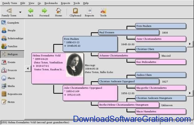 Aplikasi untuk Membuat Silsilah Keluarga Gramps - Pohon Silsilah
