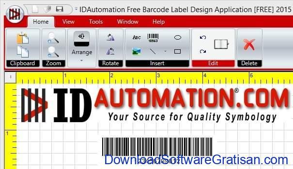 Aplikasi Gratis untuk Cetak Label pada PC IDAutomation Free Barcode Label Design