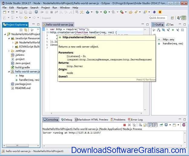 IDE Gratis untuk Java Coding, Development & Programming Enide Studio 2014