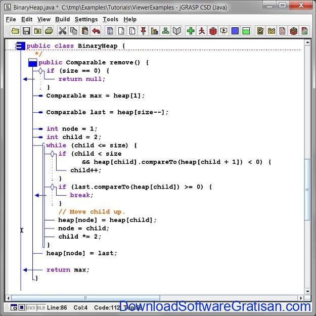 IDE Gratis untuk Java Coding, Development & Programming jGRASP
