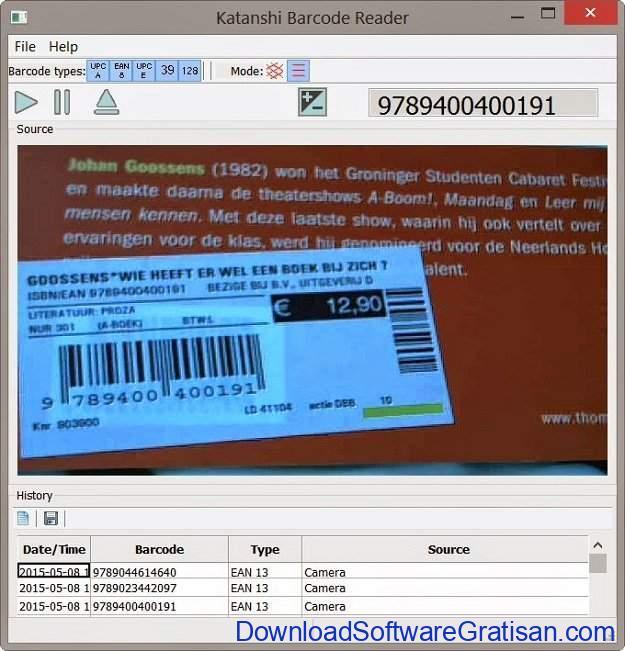 Aplikasi Pemindai Barcode Gratis Terbaik untuk Windows Katanshi Barcode Reader