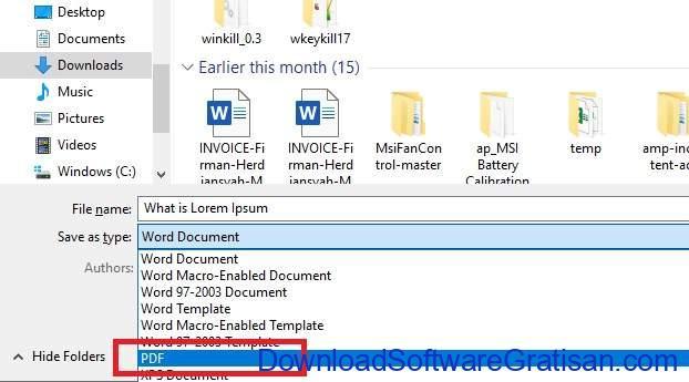 Konversi Dokumen ke PDF Menggunakan Microsoft Word - 3
