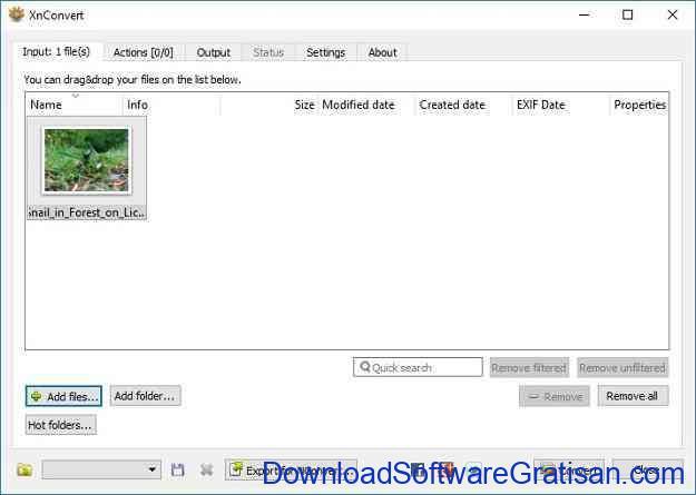 Konversi Foto atau Gambar WEBP ke JPG menggunakan XNConvert - Tambah File