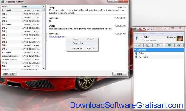 LAN Messenger untuk PC Qualia LAN Messenger