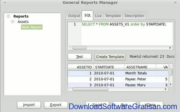 Laporan di Money Manager Ex