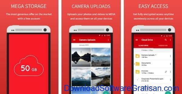 Layanan & Aplikasi Penyimpanan Cloud Gratis Terbaik Android MEGA
