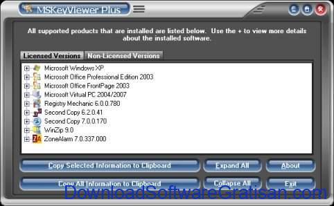 Aplikasi untuk Mencari Product Key di Windows MSKeyViewerPlus