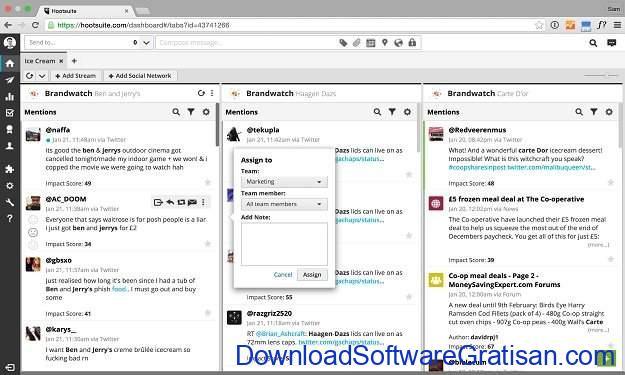 Manajemen Sosial Media Gratis Hootsuite