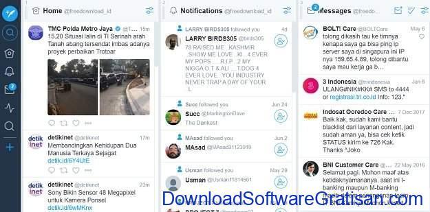 Manajemen Sosial Media Gratis TweetDeck