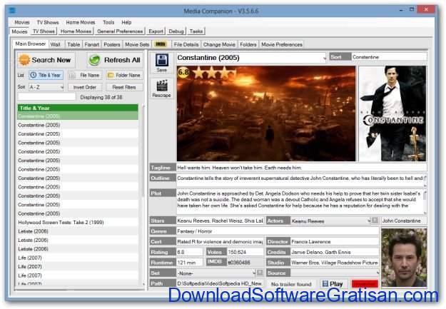Aplikasi Katalog Film Gratis Terbaik untuk Windows Media Companion