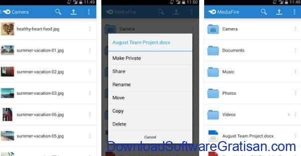 Layanan & Aplikasi Penyimpanan Cloud Gratis Terbaik Android MediaFire
