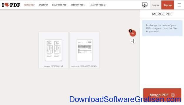 Menggabungkan File PDF Tanpa Acrobat Reader - I Love PDF