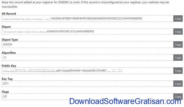 Mengkonfigurasi DNSSEC di DNS Cloudflare dan IDwebhost - Step 2