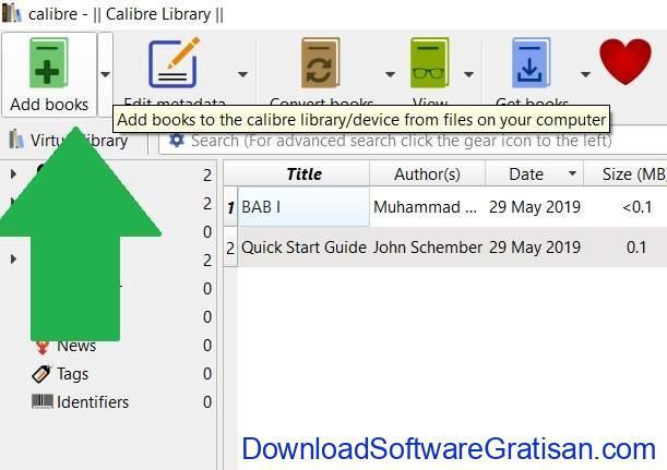 Mengonversi Dokumen dari Microsoft Word ke eBook Epub atau Mobi Add Book
