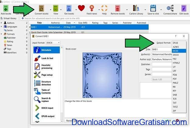 Mengonversi Dokumen dari Microsoft Word ke eBook Epub atau Mobi Convert