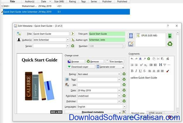 Mengonversi Dokumen dari Microsoft Word ke eBook Epub atau Mobi Metadata