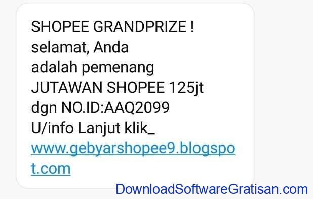 Modus Penipuan Pemenang Grandprize Jutawan Shopee 2020