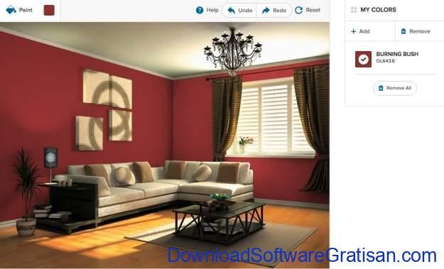 Aplikasi Online Terbaik untuk Mendesain Interior Rumah Olympic Paint Color Visualizer