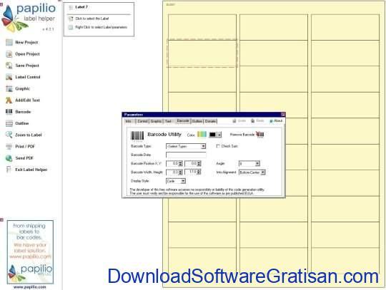 Aplikasi Gratis untuk Cetak Label pada PC Papilio Label Helper