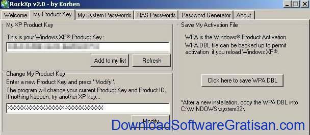 Aplikasi untuk Mencari Product Key di Windows RockXP
