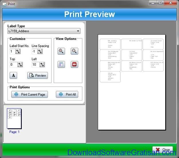 Aplikasi Gratis untuk Cetak Label pada PC SSuite Label Printer