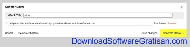 Simpan Halaman Web Sebagai File EPUB Save as eBook untuk Firefox & Chrome - SS1