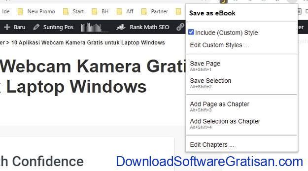 Simpan Halaman Web Sebagai File EPUB Save as eBook untuk Firefox & Chrome