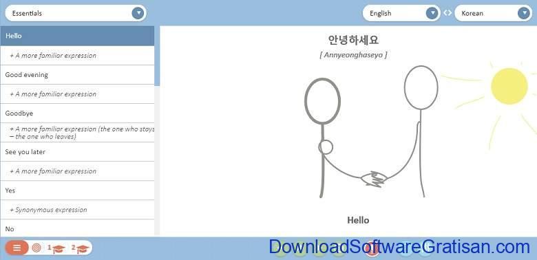 Situs Belajar Bahasa Korea Online Gratis - Loecsen-com