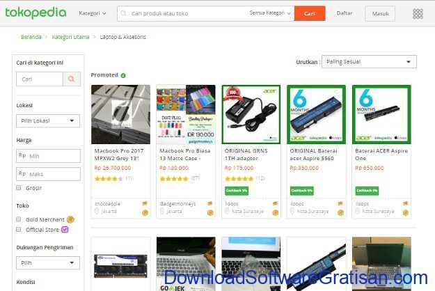 Situs Belanja Online Terbaik di Indonesia Tokopedia