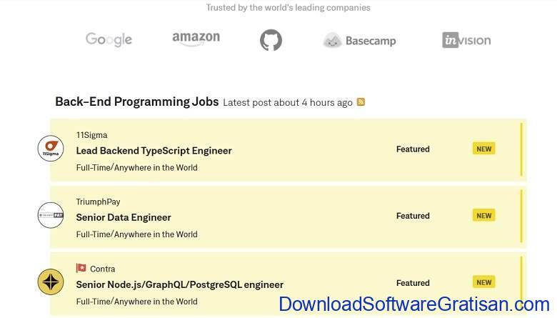 Situs Freelance Desainer & Programmer Terbaik Guru - WeWorkRemotely