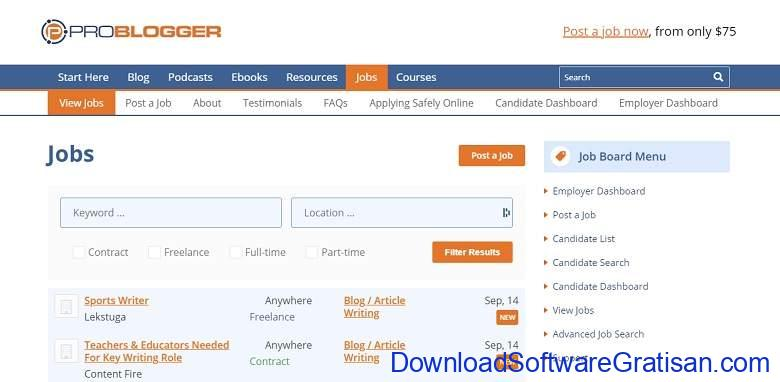Situs Freelance Desainer & Programmer Terbaik Guru - problogger