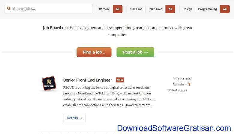 Situs Freelance Desainer & Programmer Terbaik Smashing Jobs