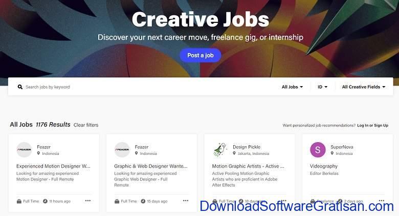 Situs Freelance Terbaik Desainer & Programmer - Behance Job