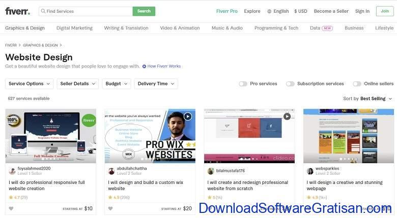 Situs Freelance Terbaik Desainer & Programmer - Fiverr