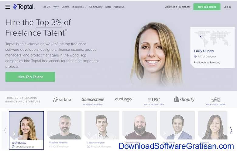 Situs Freelance Terbaik Desainer & Programmer - TOPTAL