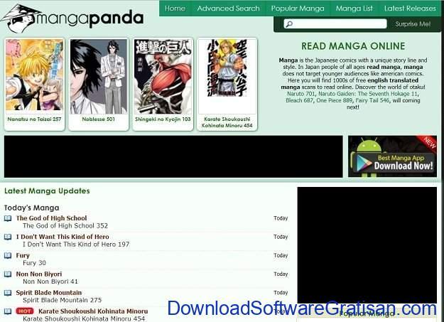Situs Manga Terbaik untuk Membaca Manga Online Gratis Mangapanda