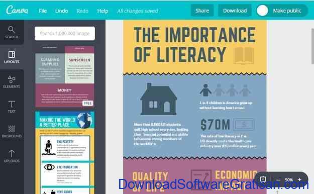Situs Online Terbaik untuk Membuat Infografis Gratis Canva