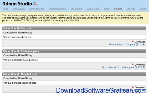 Situs Terbaik untuk Download Efek Suara atau Sound Effects Gratis 3dmm Studio