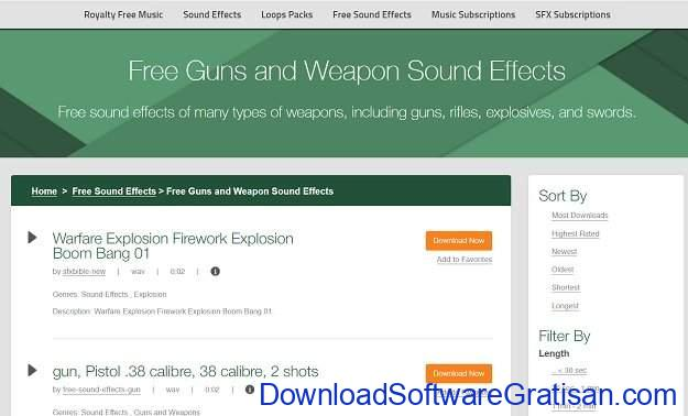 Situs Terbaik untuk Download Efek Suara atau Sound Effects Gratis Audio Micro